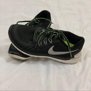Nike Free Black & Green Sneaker Men's Size 6.5
